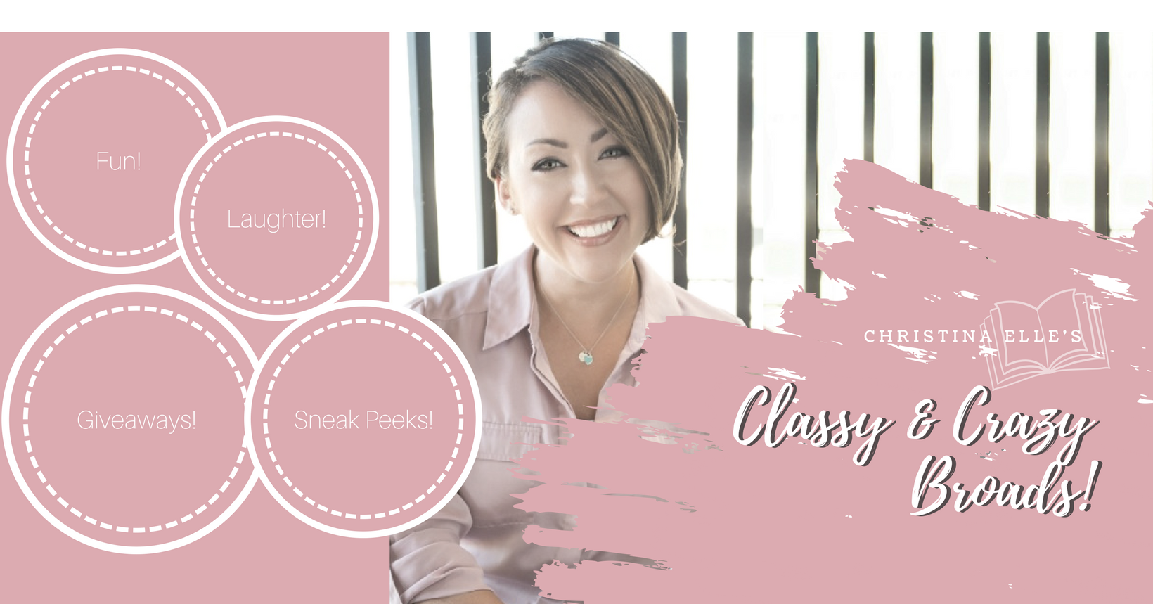 Join Christina's Classy & Crazy Broads! - It's a great place to chat about my books and characters, and for me to spoil my readers with exclusive excerpts and giveaways!