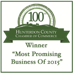 "Hunterdon Chamber of Commerce ""Most Promising Business of 2016 Award."