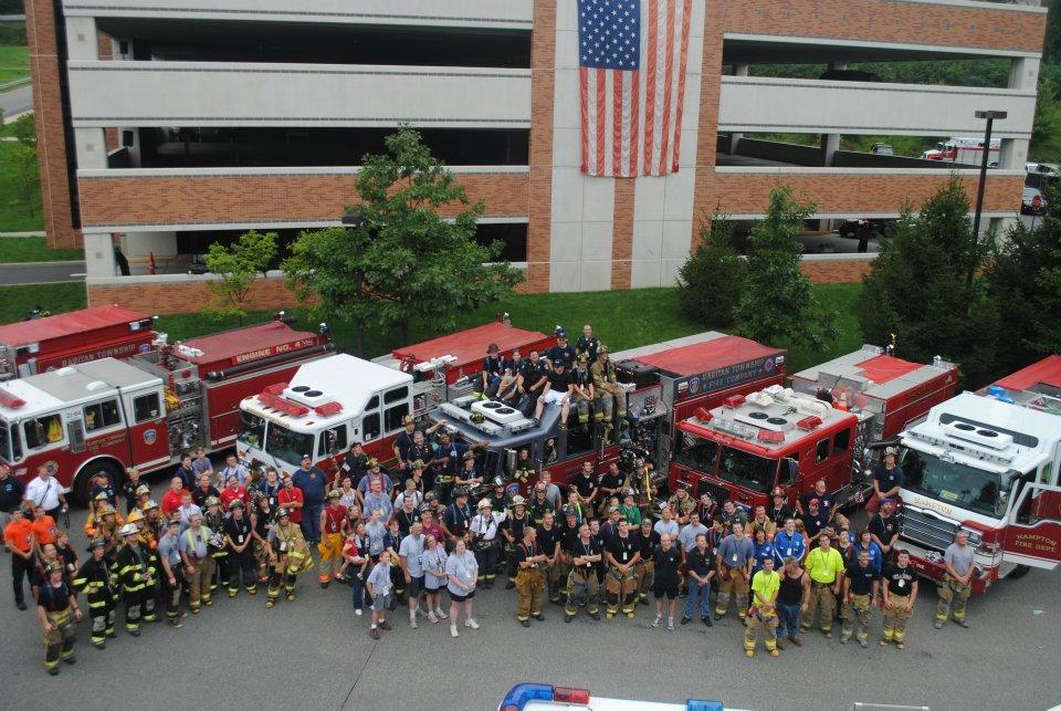 9/11 StairClimb - One we have been doing for a while, every year on the Sunday closest to 9/11, our local firefighters and EMS brave the staircase at the medical center for charity, raising money for sick and injured emergency responders from the events of 9/11. We have done this event for many many years.
