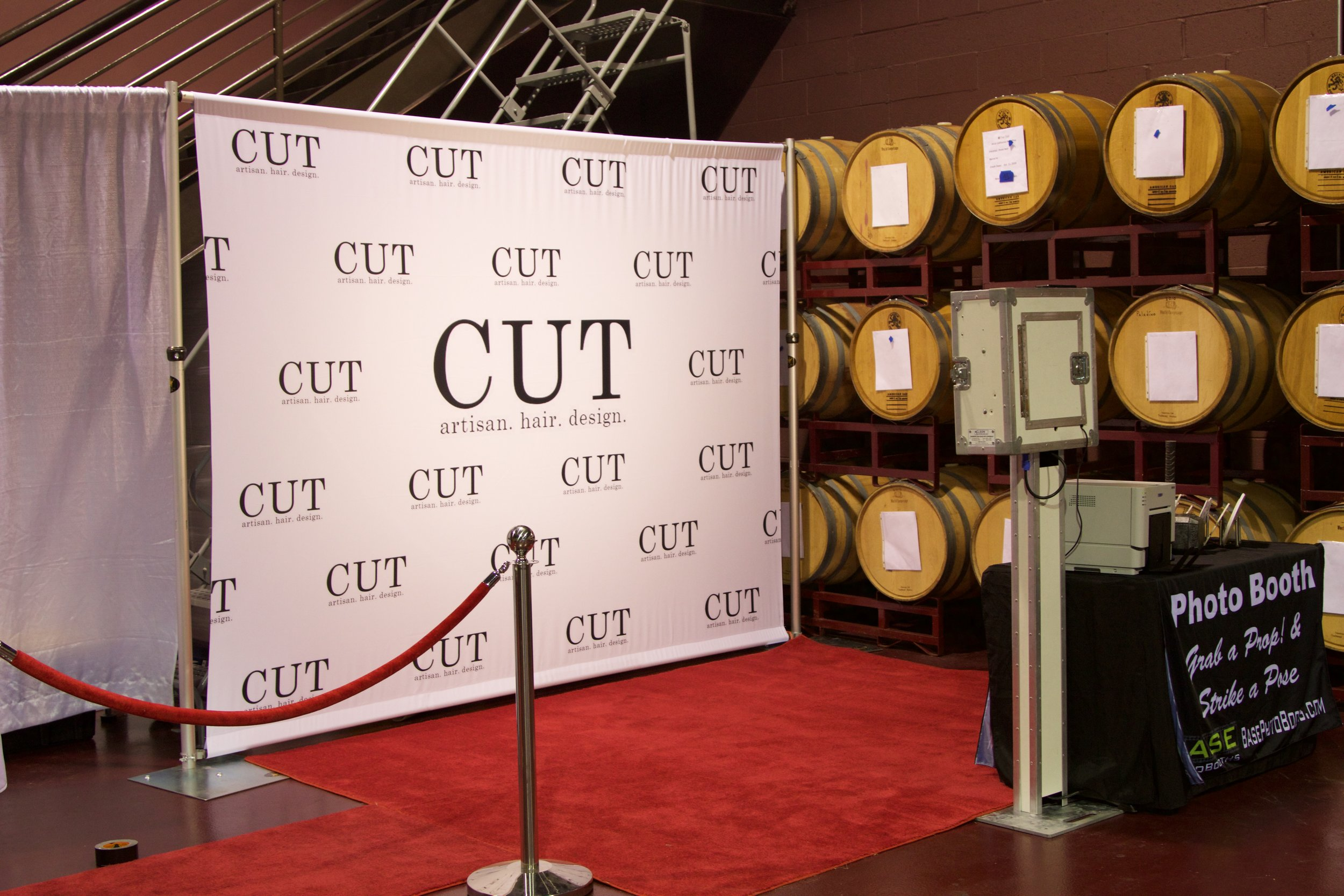 Add a Custom Printed Step and Repeat $249 - You get to take it home and use it again and again! Custom printed on cloth.