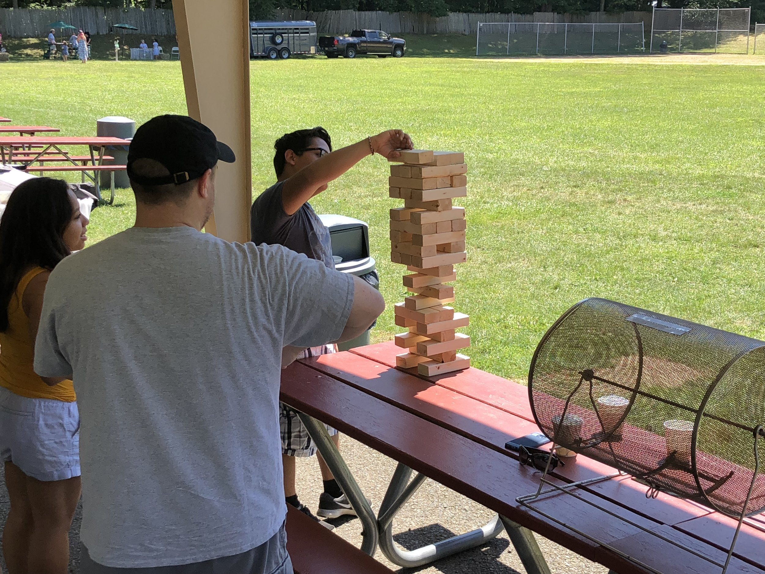 Giant Jenga - Let us bring our oversized version of a new picnic classic game!