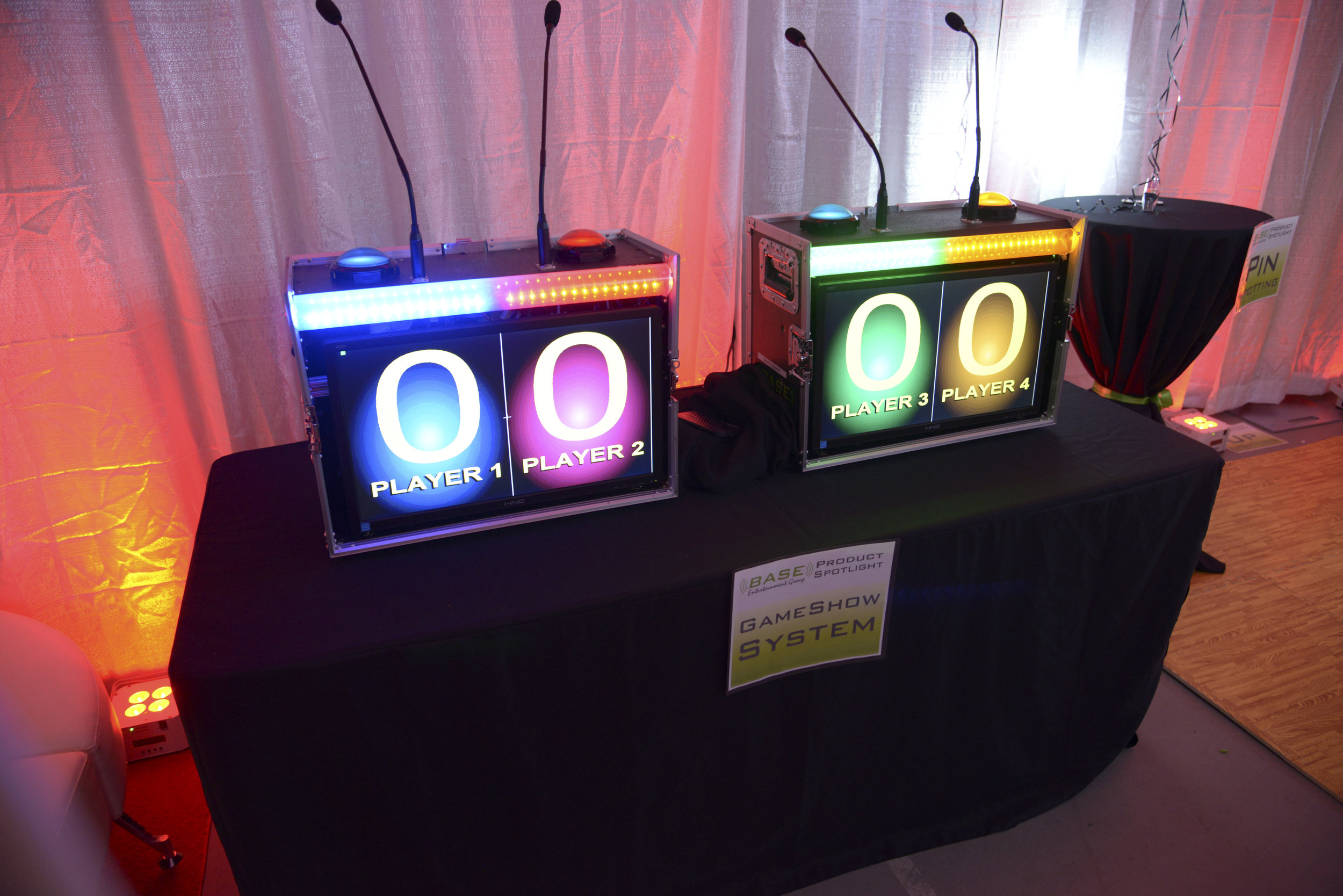 GameShow - A real, four player, gameshow system. The buzzers lock out the other players and the scores appear live. Do name that tune or even elementary trivia for some real fun!