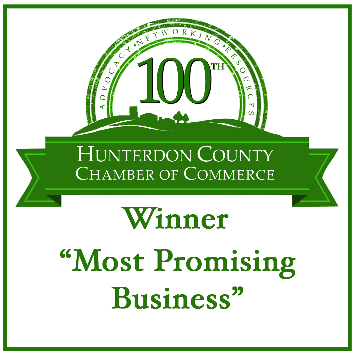 Hunterdon County Chamber of Commerce Most Promising Business