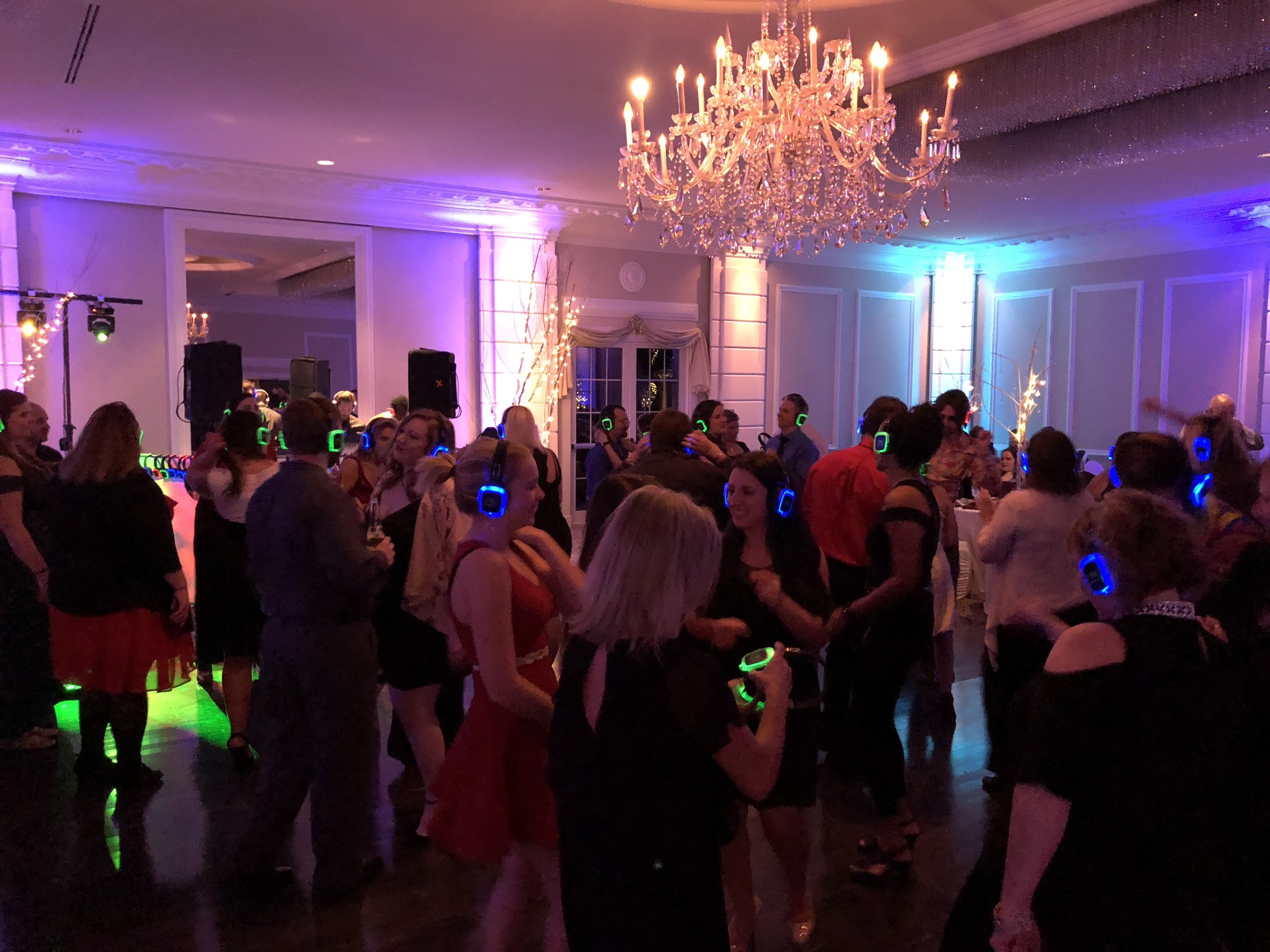 Silent Disco - Turn your party into a silent disco! Headphones for everyone and three channels of audio to choose from. This event is priced on a per event basis so inquire to find out more!