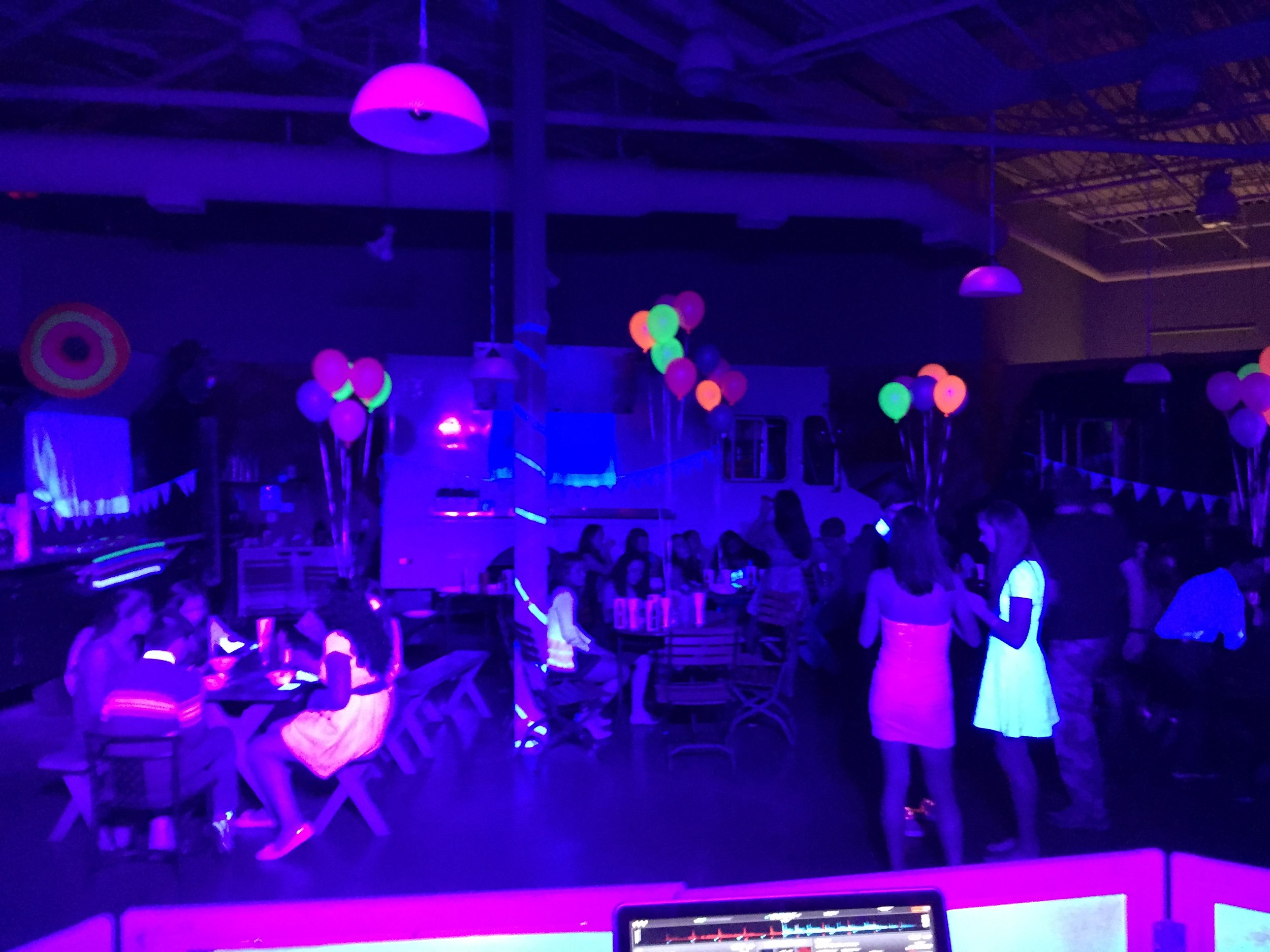 Black Lighting $299 - Add high powered Black Lighting for the ultimate GLOW Party!