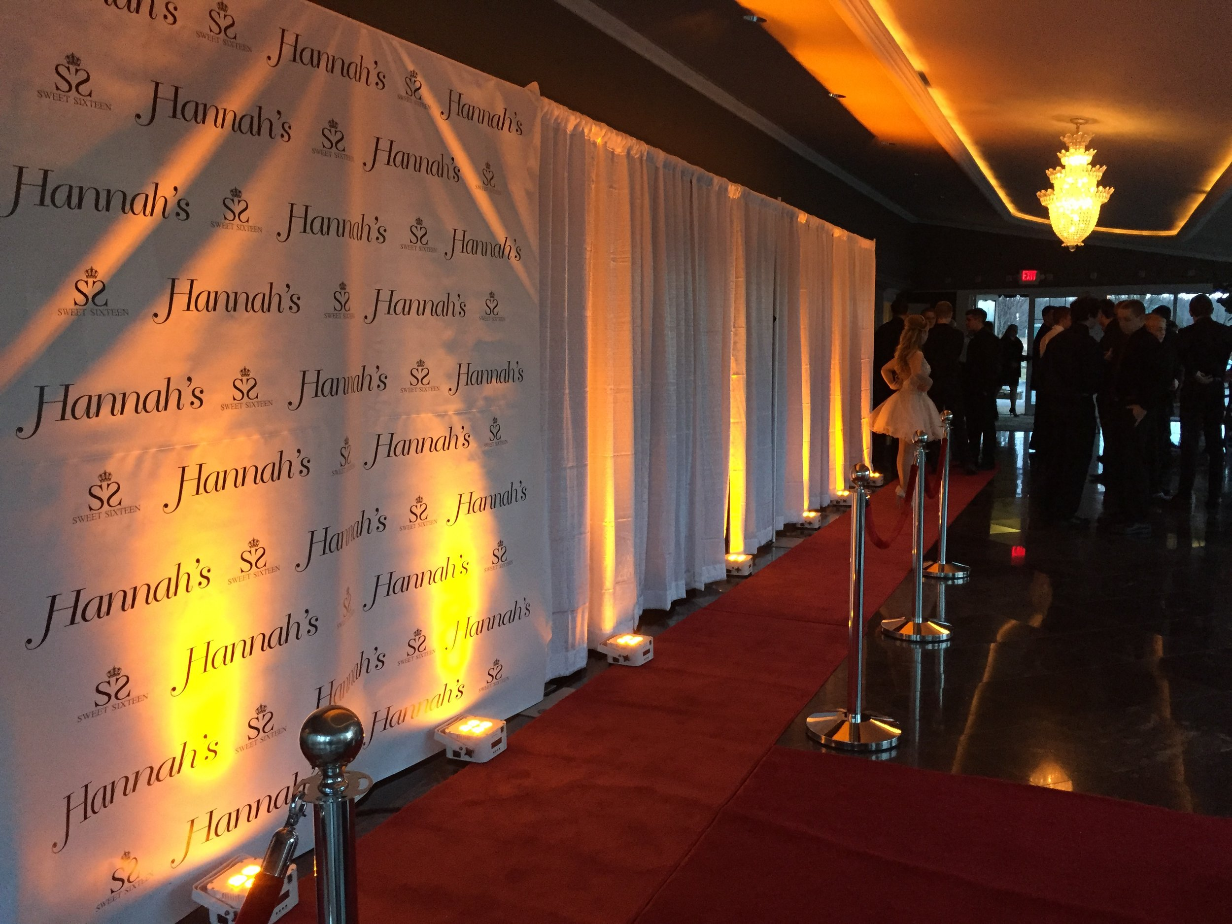 Red Carpet & Stantions Entryway - Priced per event, give your entry to your Sweet 16 that Hollywood Feel!