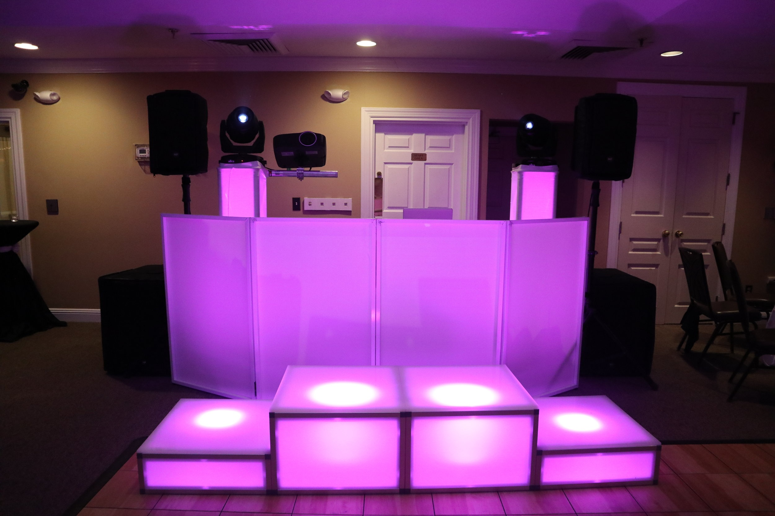 """LED Dance Stages - Priced Per Pair of Blocks,Two Blocks 8"""" High $295Two 8"""" and Two 16"""" $495Four 8"""" and Four 16"""" $795"""