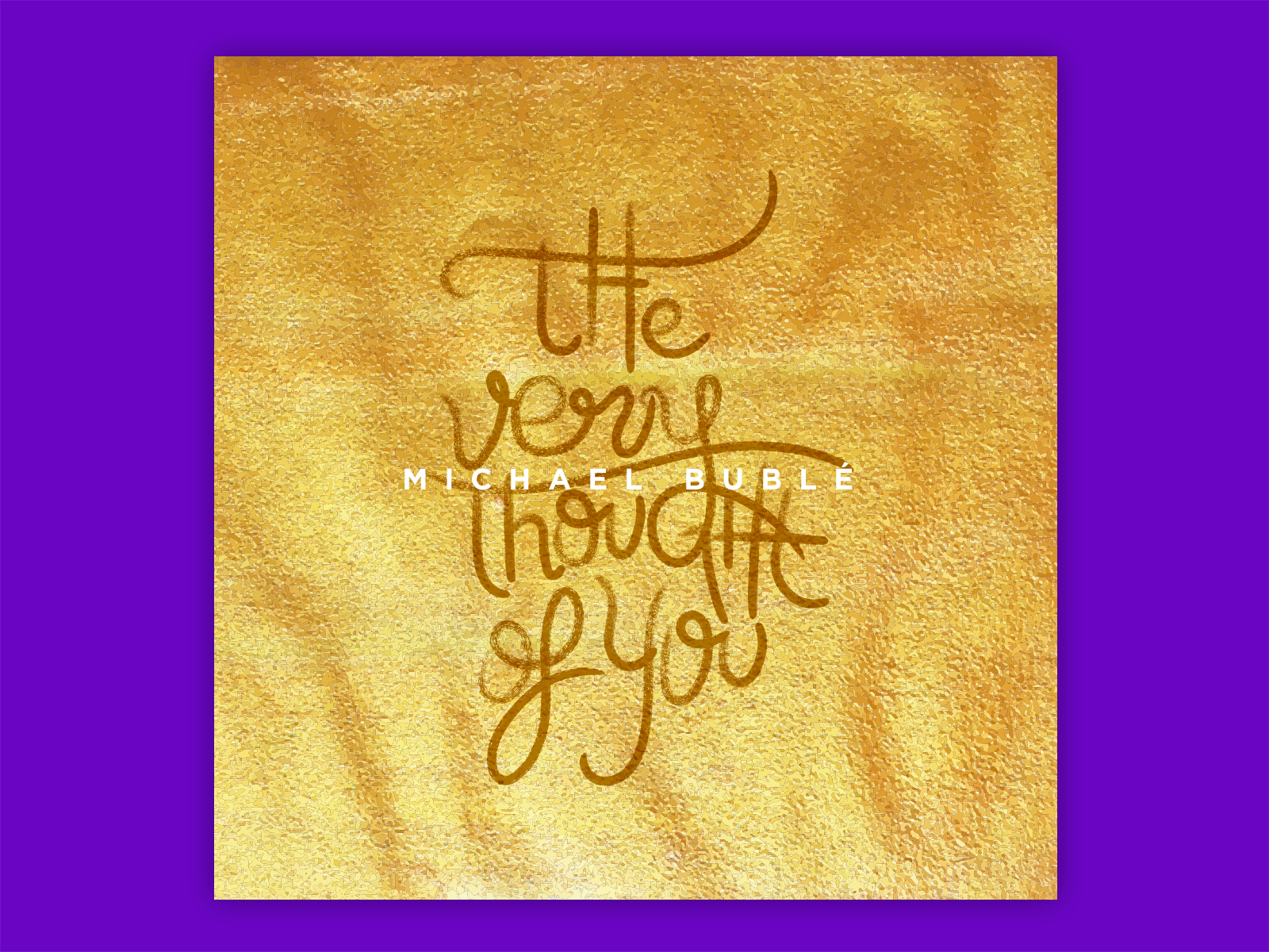 My favourite song from Mr. Michael Bublé's latest song: The Very Thought of You. This also showcases some of the lettering work I was used to do. That skill was a little bit dusted.  Watch it on dribbble  https://dribbble.com/shots/3078471-The-very-Thought-Of-You