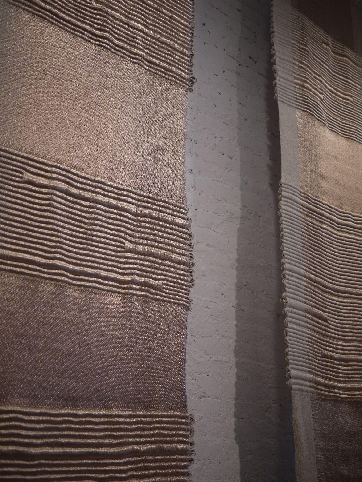 Apollo, Hiroko Takeda, 2015, NY Studio, 192%22h x 36%22w, mixed natural & metallic 5.jpg