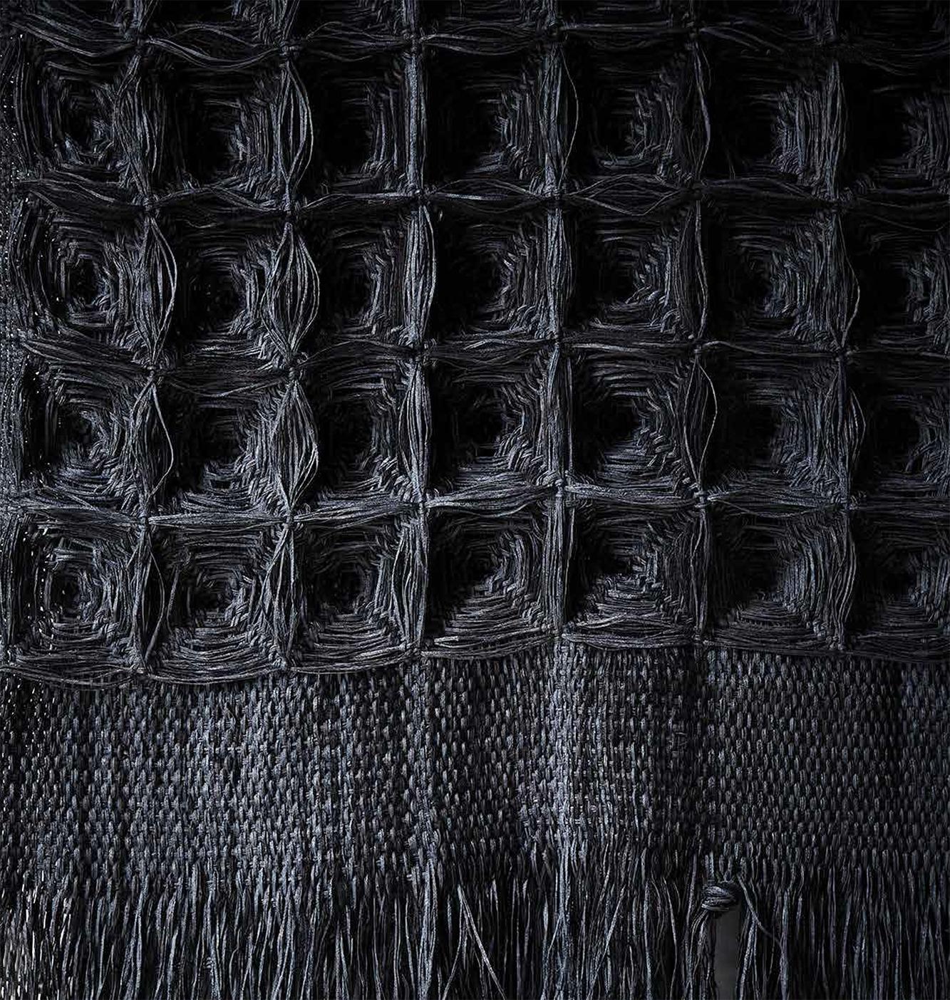 Giant Charcoal, Hiroko Takeda, 2014, NY Studio, 80%22h x 36%22w, mixed natural fibers (detail).jpg