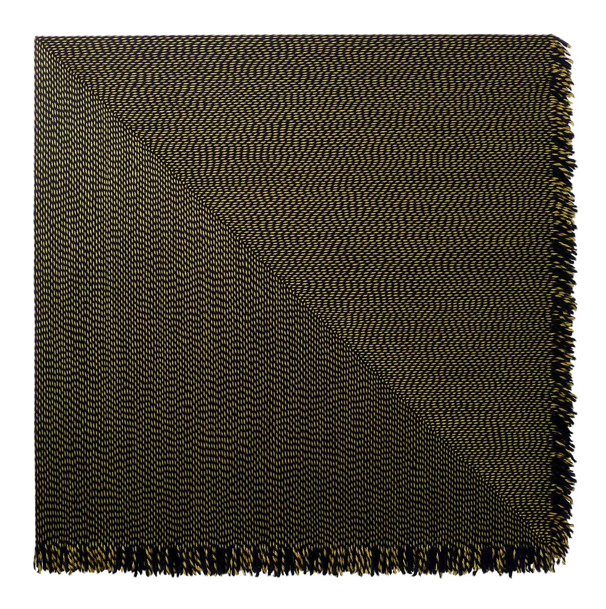 Matthew Larson, Double Fiction, 2018, Yarn, velcro, & linen on panel, 50 x 50 inches.jpg