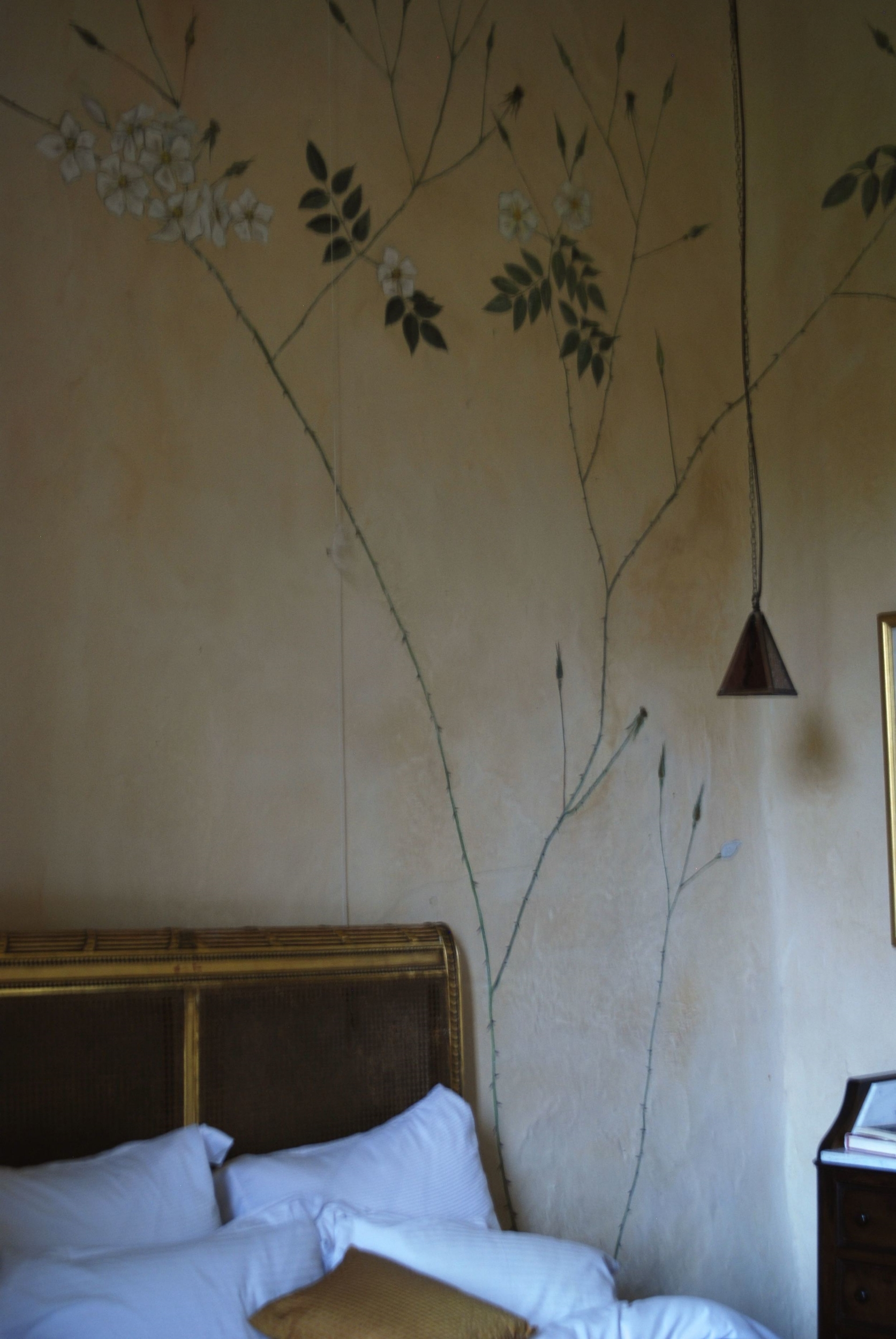 wall painting with pigment
