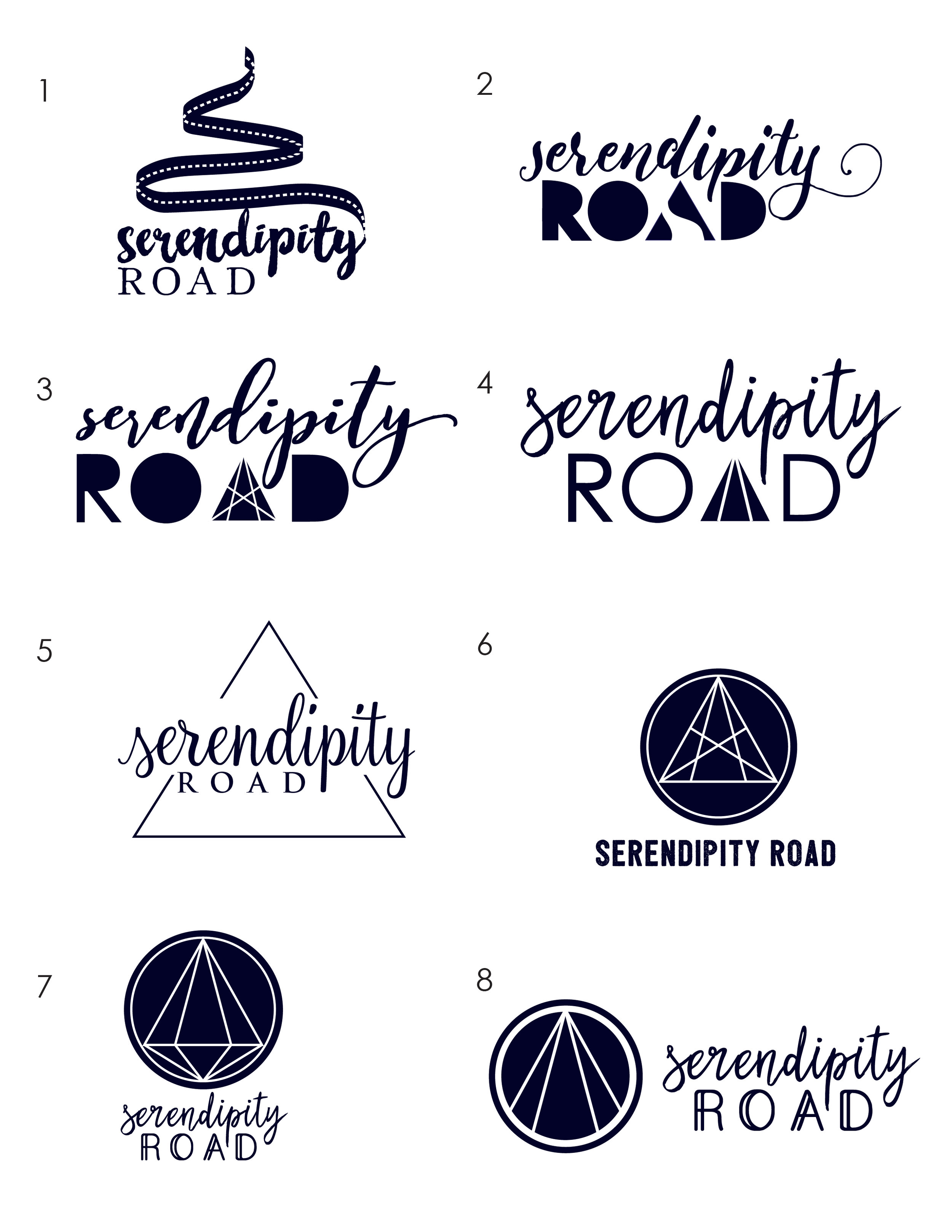 Serendipity Road Logo Drafts
