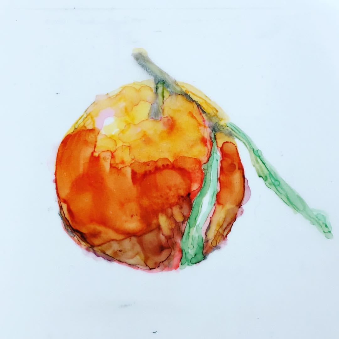 Orange - 2000Prismacolor MarkersVellum