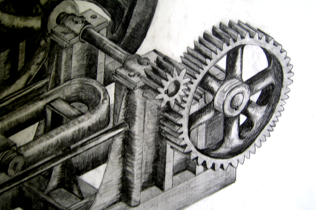 D - Isometric Pencil Drawing from Drafting zoom -2002.JPG