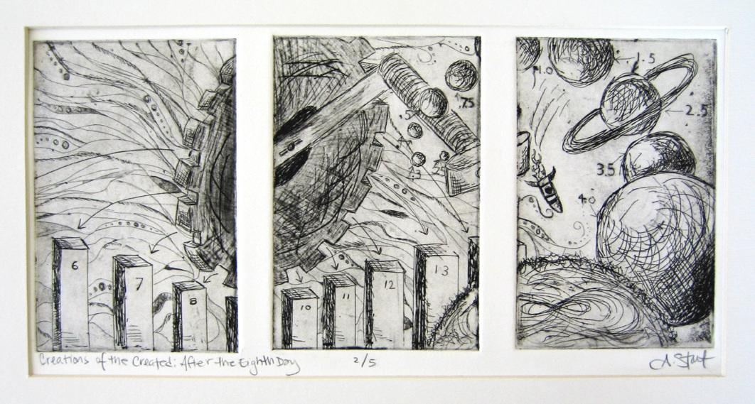 Creations of the created - 2007Intaglio PrintsBlack InkPaper