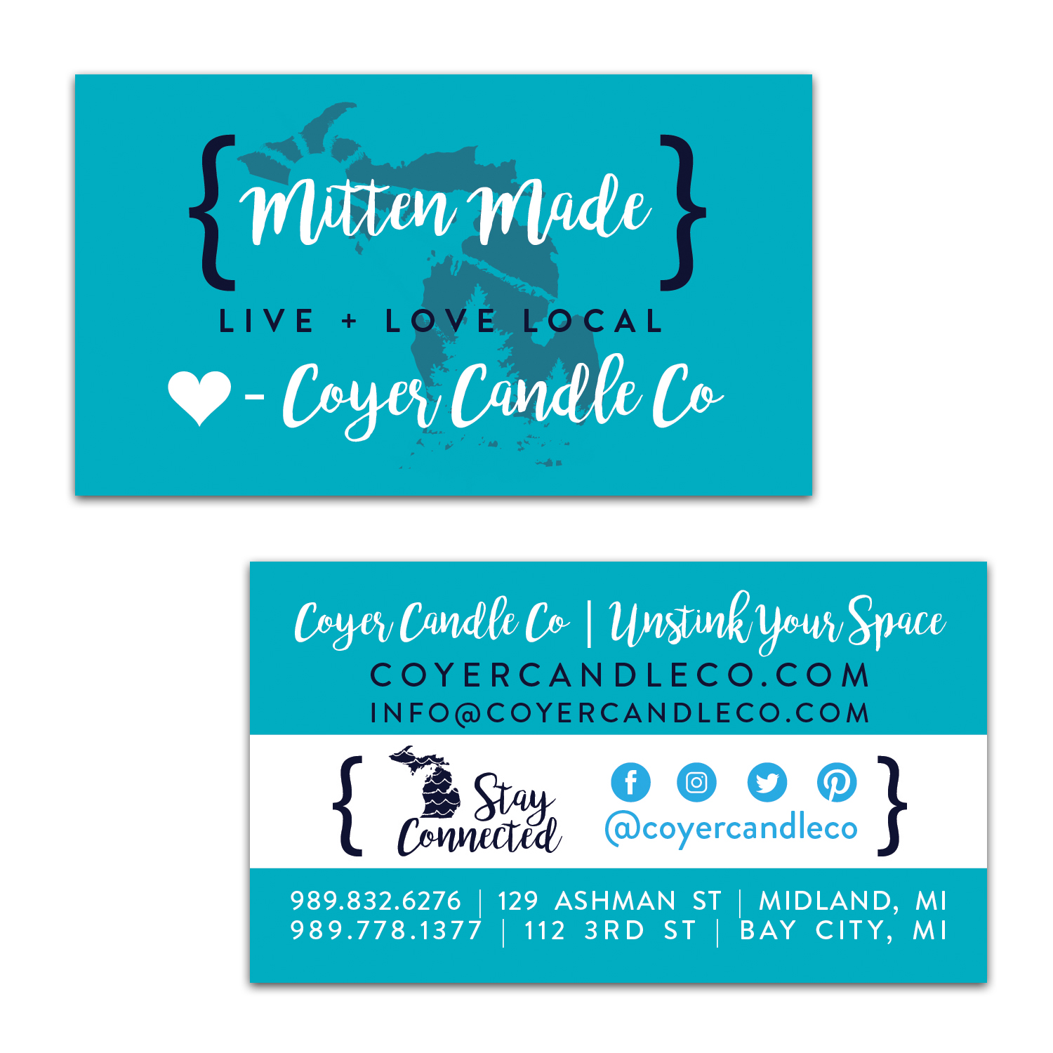 Business Card [ Coyer Candle Co. ]