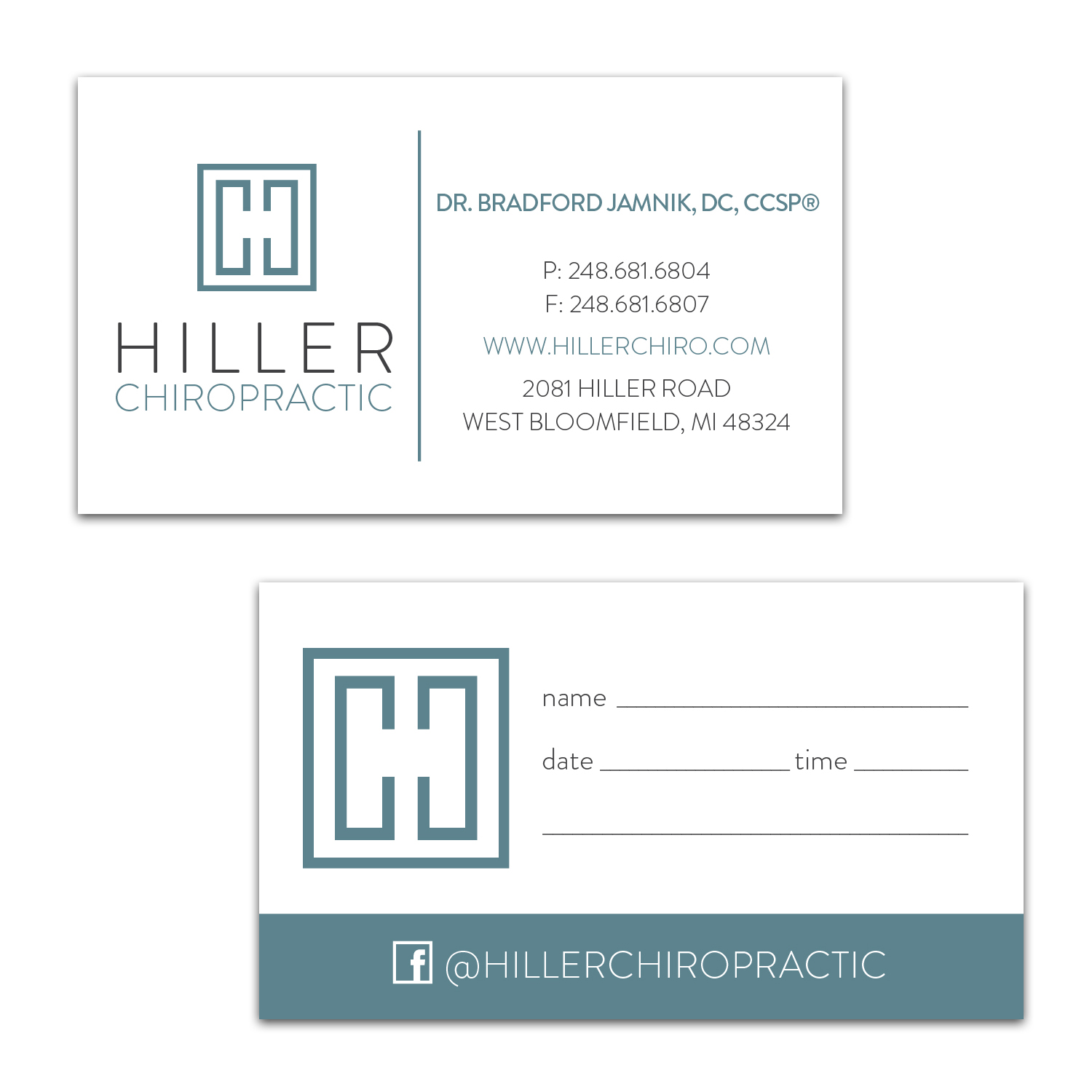 Business Card [ Hiller Chiropractic ]