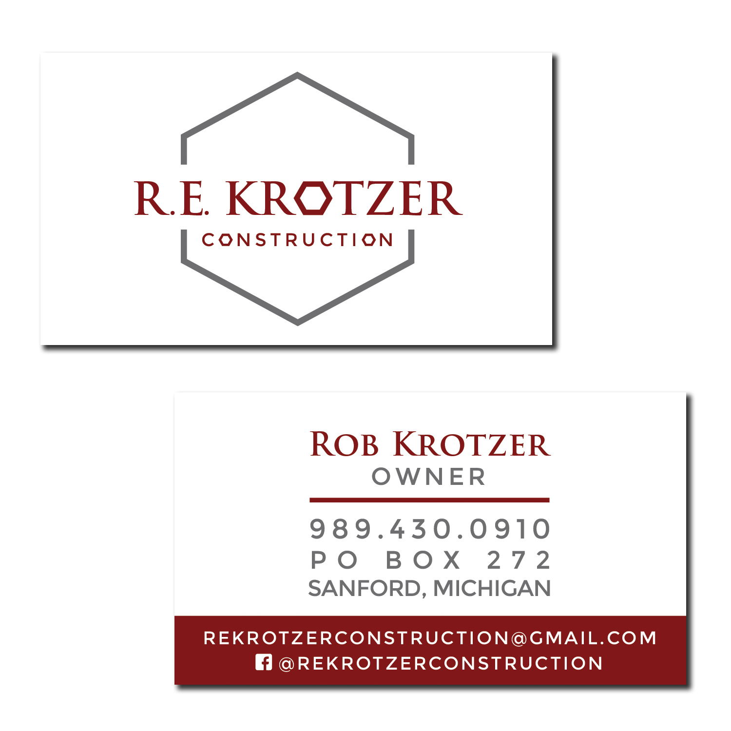 Business Card [ R.E. Krotzer Construction ]