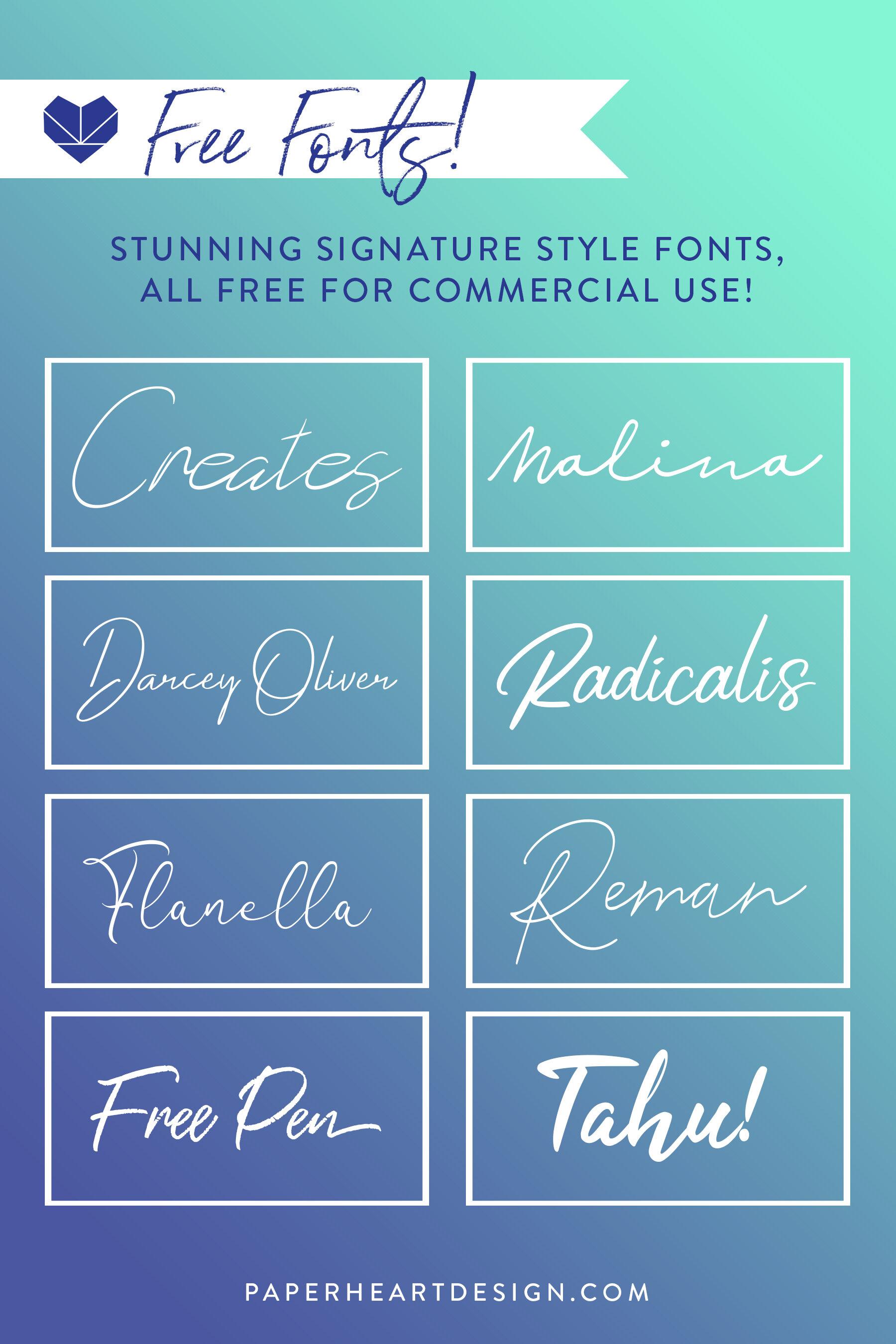Freebie Friday Signature Fonts.jpg