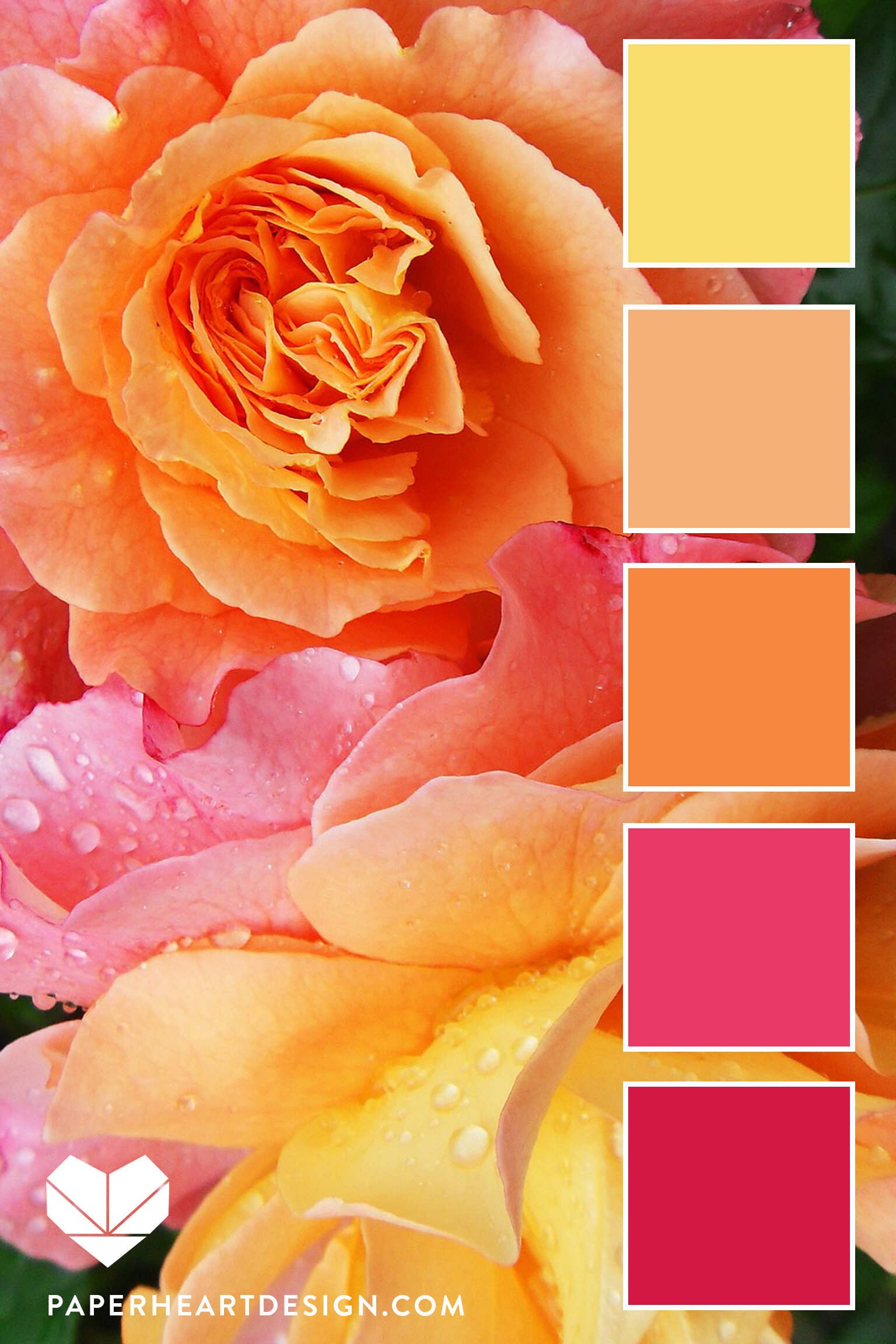 Pink, peach, orange and yellow are such a feminine and fun combo.