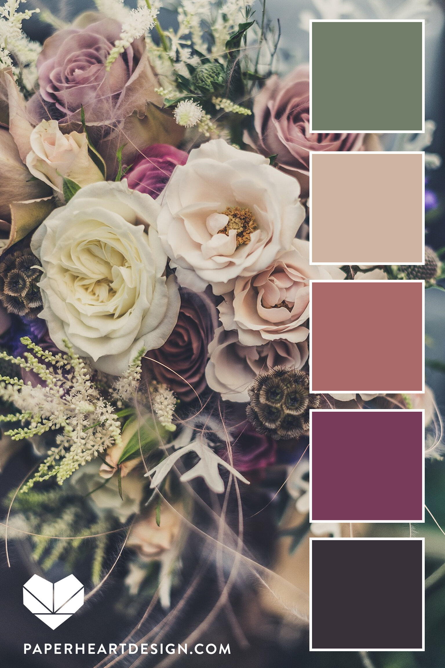 I can't get enough of these dusty, muted hues!