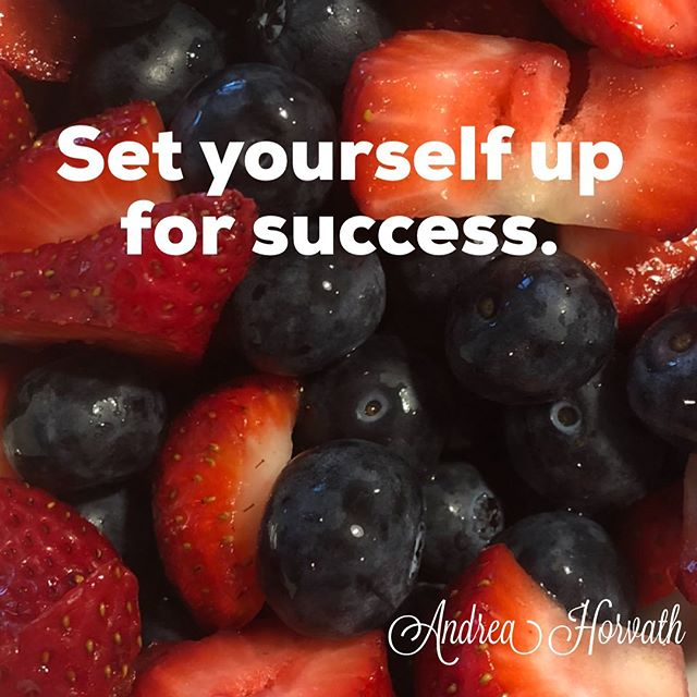One of the most important steps you can do to create success in your life is to set yourself up for success.  There are a multitude of ways to accomplish this - make lists, get an accountability partner, get up early, control your thoughts, etc.  This morning I have a 2 1/2 hour training call. I know when I'm done I will be hungry, so I've prepared this dish of fruit for myself so I can grab it when I'm done. This is keeping me on track to eating healthy as that is important to me. I know if I don't do this, after the call I will just grab something quick, which likely won't be healthy.  It's not the big steps we take, it often the little steps we consistently take.  What can you do today to set yourself up for success? . #success #goals #dreams #freedom #financialfreedom #manifestation #cocreate #entrepreneur #financialindependence