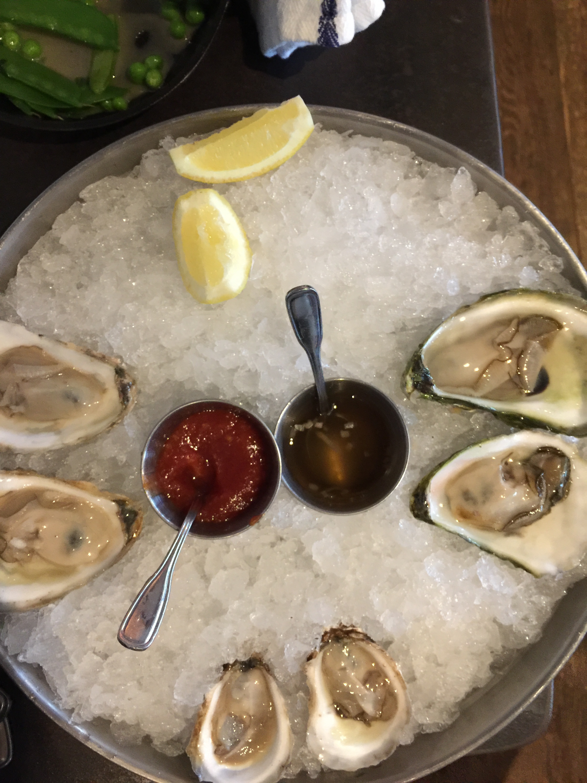 Oysters from Scales. A week's vacation in Portland, Maine.