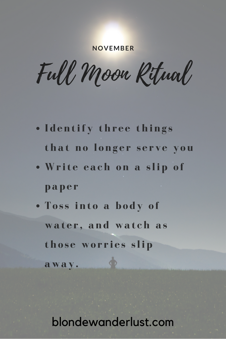 The perfect ritual for learning to let go