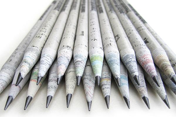Recycle Newpaper Pencil.jpg