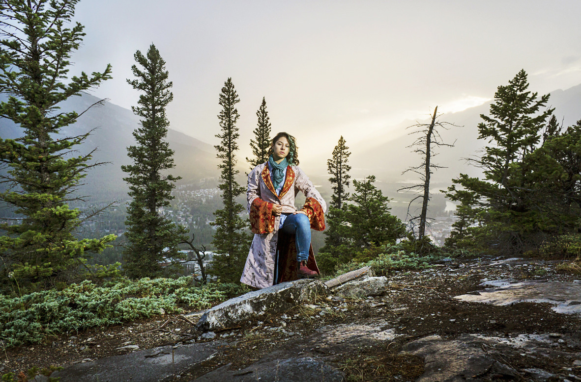Robed Self Portrait in Landscape , 2014. Amanda Arcuri