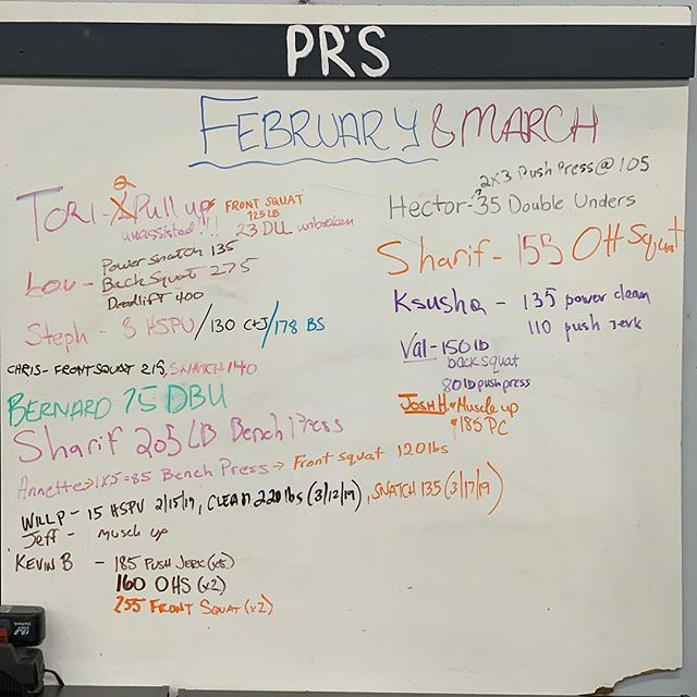 What will April bring? 🤔  Congrats to everyone who PR'd or made progress towards achieving their goals the last few months!  Remember to ring the bell and write your PR's up here for all the world to see!  #ridgewood #bushwick #glendale #bedstuy #crossfit #crossfitter #crossfitgames #crossfitcommunity  #crossfitlifestyle #crossfitters #crossfitfamily #fitspo #fitfam #health #fitness #fit #workoutmotivation #healthylifestyle #workout #gymshark #sport #gym #muscle #mobility #training #nopainnogain #fitnessaddict #power #lift #fitnessgoals