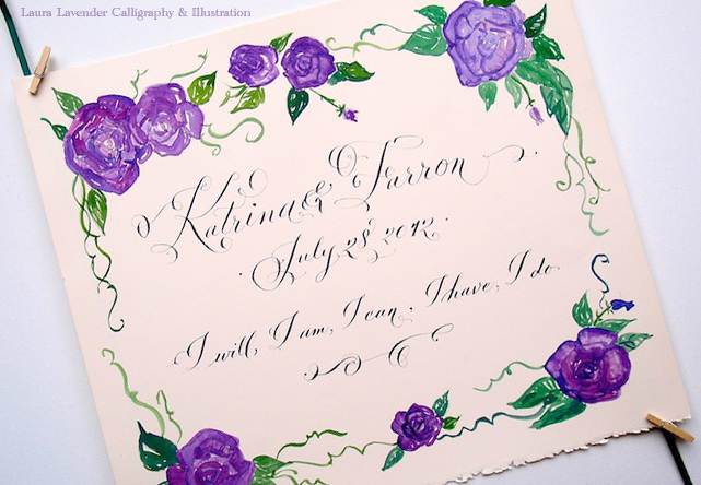 Lavender Calligraphy Wedding