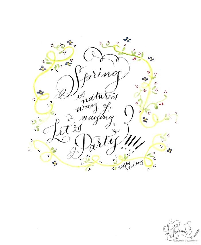 Spring -laura lavender calligraphy
