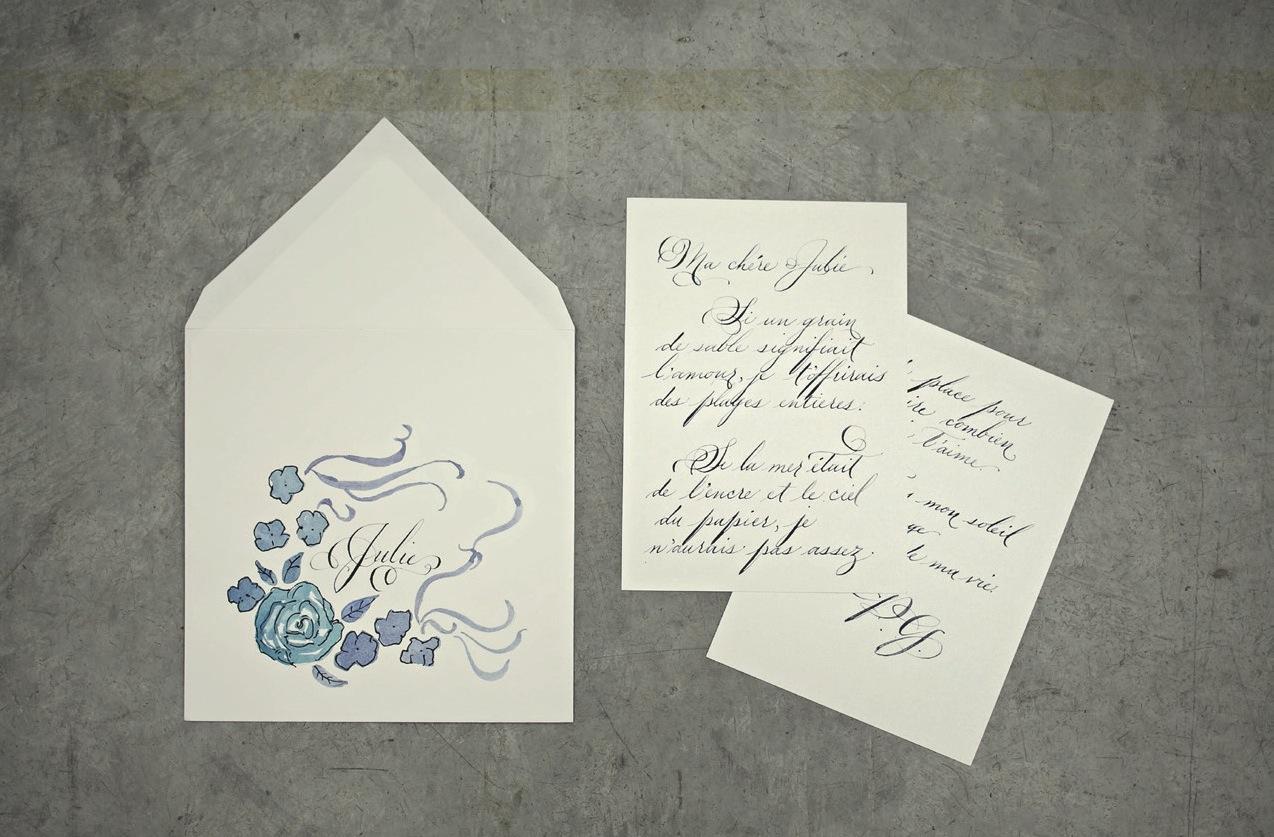 love note hand lettered calligraphy illustration love letter service