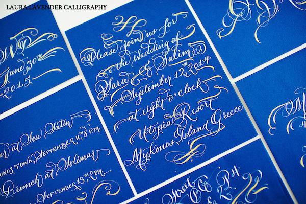 greek photoshoot laura lavender calligraphy
