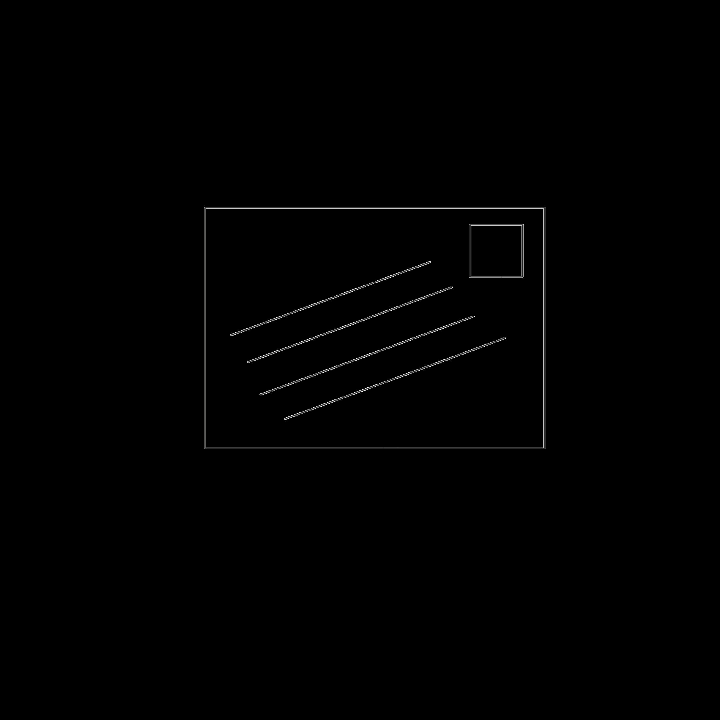 angled envelope addressing