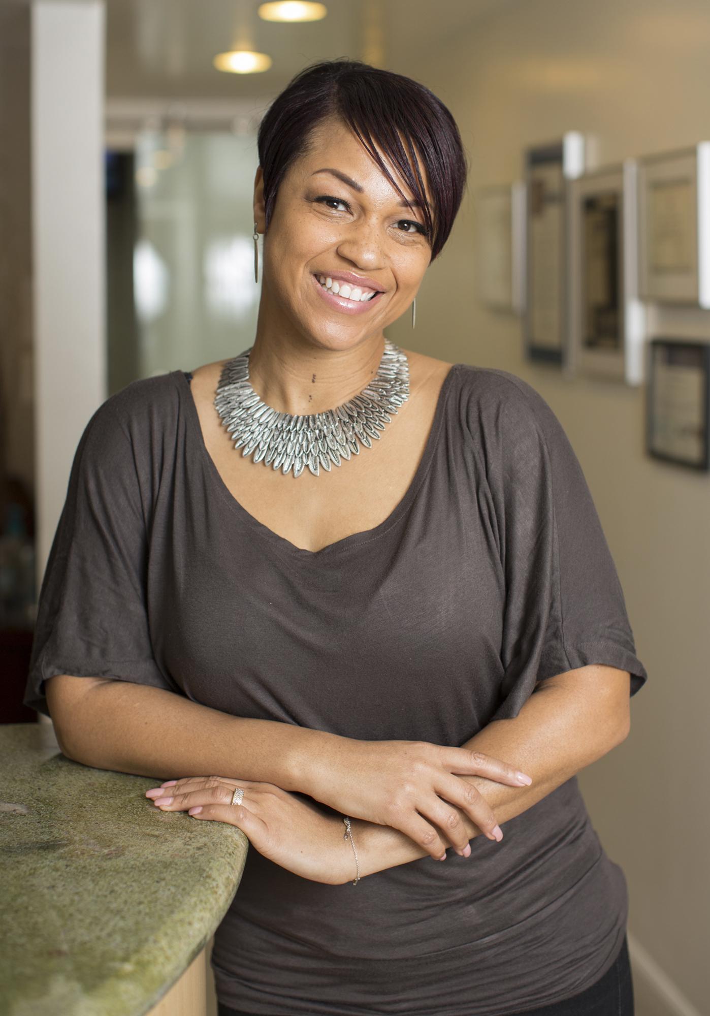 Tamara Synigal, Office Manager at Nice Teeth Dental in San Leandro, California.