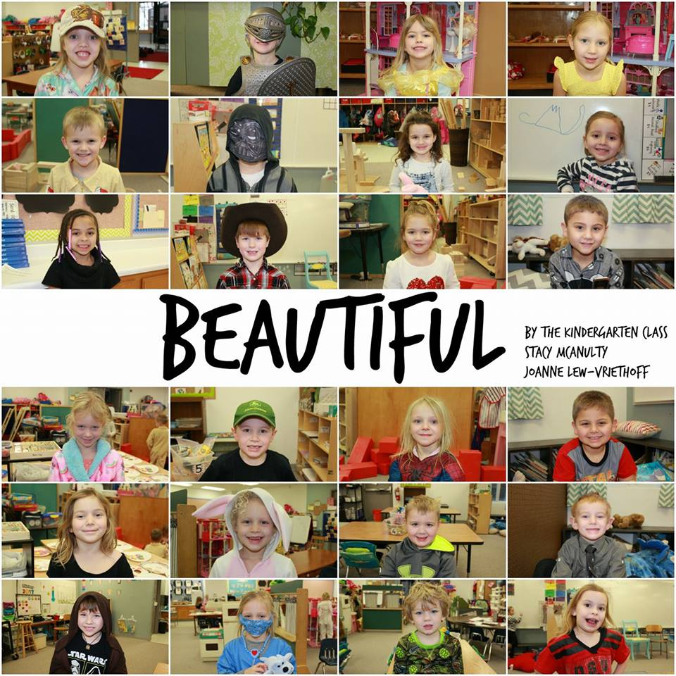 This picture was shared by Anne Turner on Facebook. She asked her kindergartners to dress in whatever made them feel beautiful.