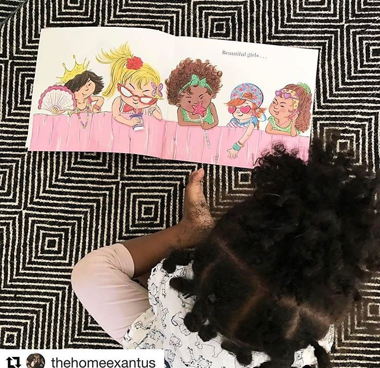 Love this little one looking at the book. From @thehomeexantus on Instagram