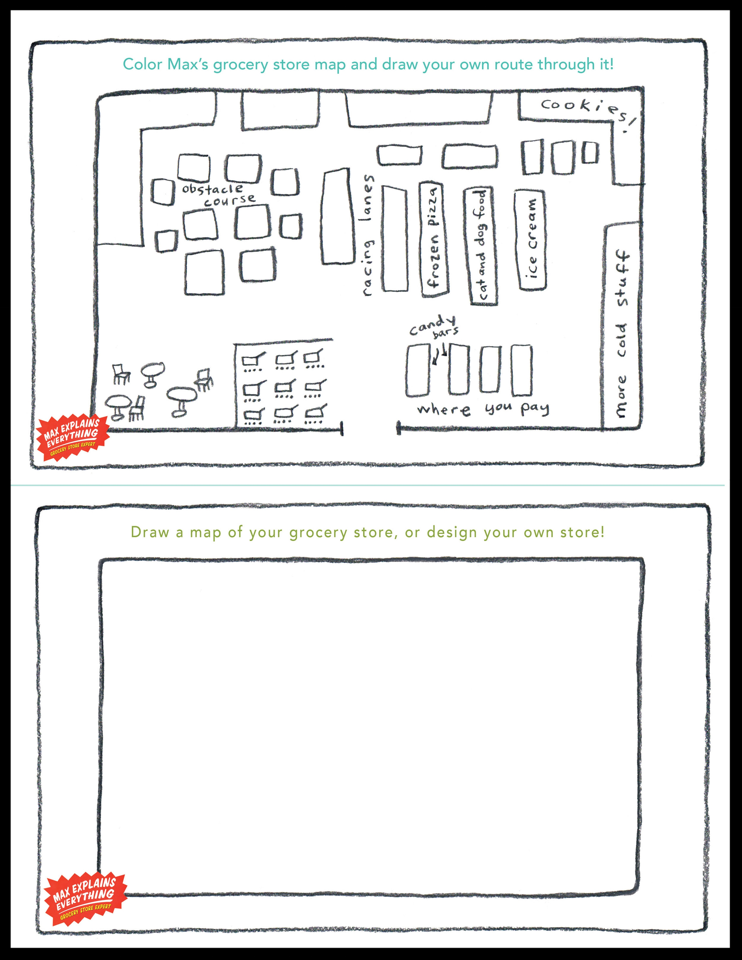 Create and Color a Map of the Store