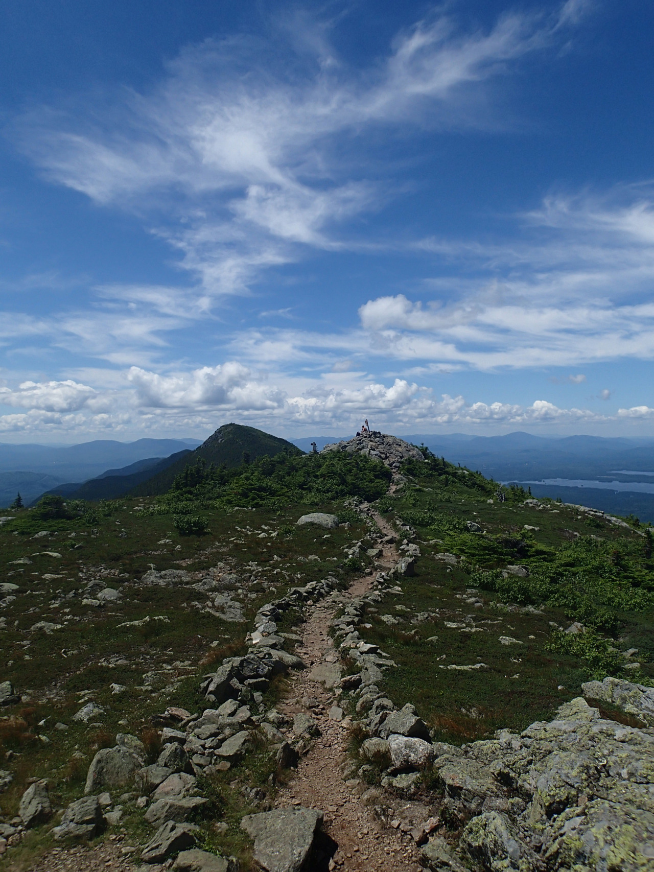 The trail on top of Avery Peak, ME