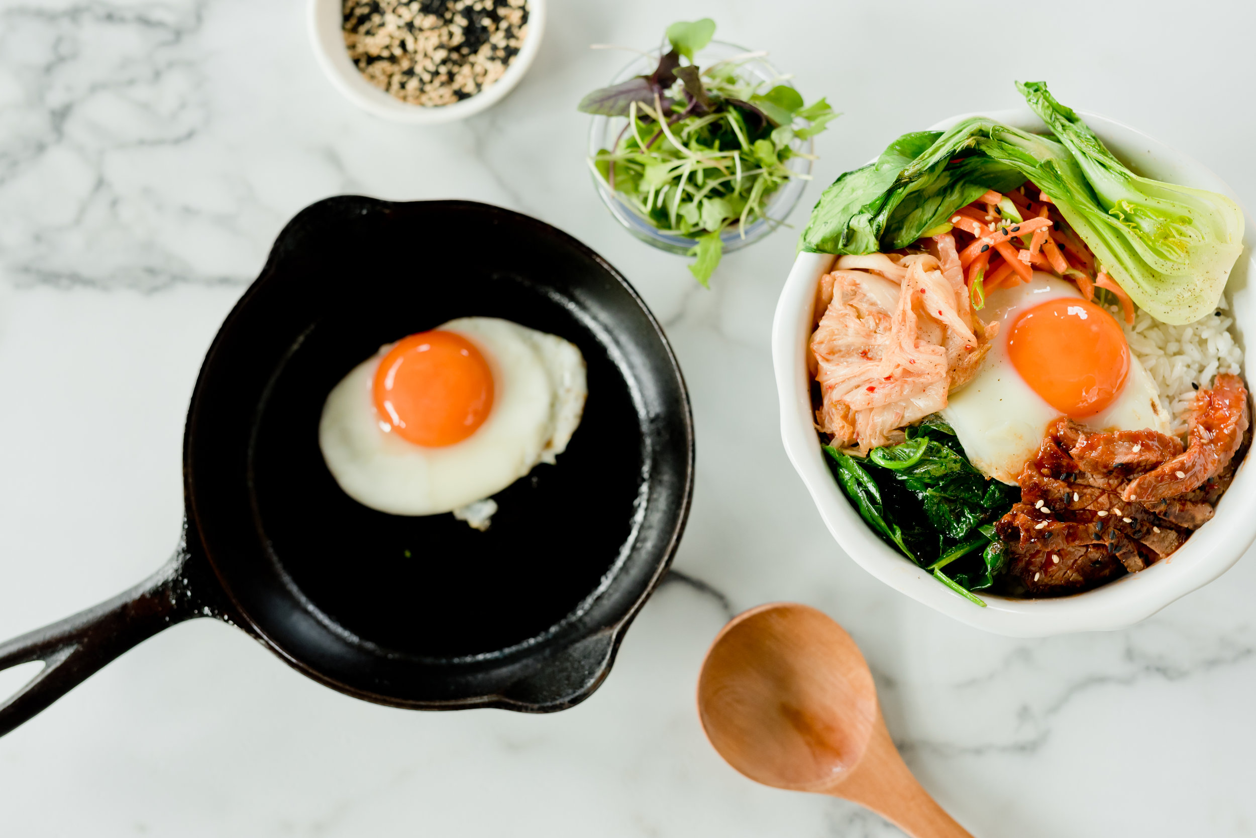 Eggs aren't just for breakfast. They can be added to a number of savory dishes suitable for all-day consumption, like the rice dish pictured above.