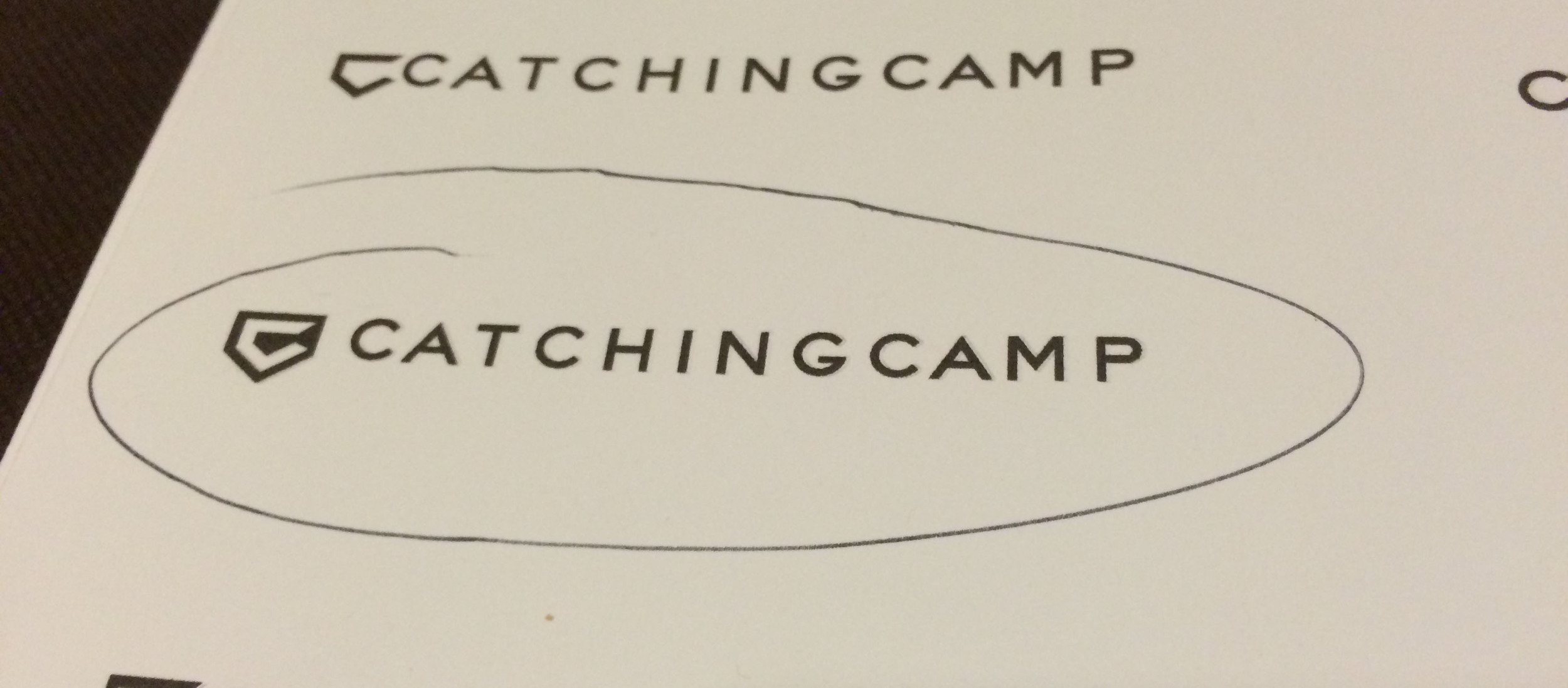 After many revisions we finally settled on the new mark that would set the pace for the future of the Catching Camp