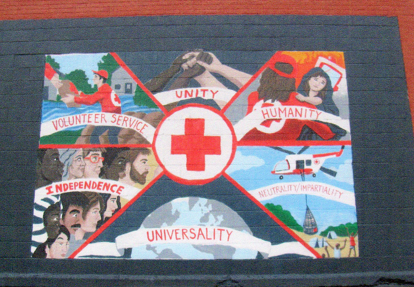 Painting on Midtown Manhattan Red Cross Office