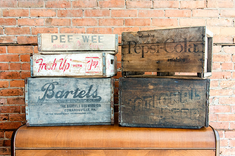 Variety of Vintage Crates