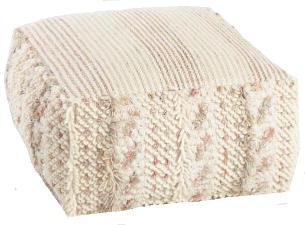Boho square pouf