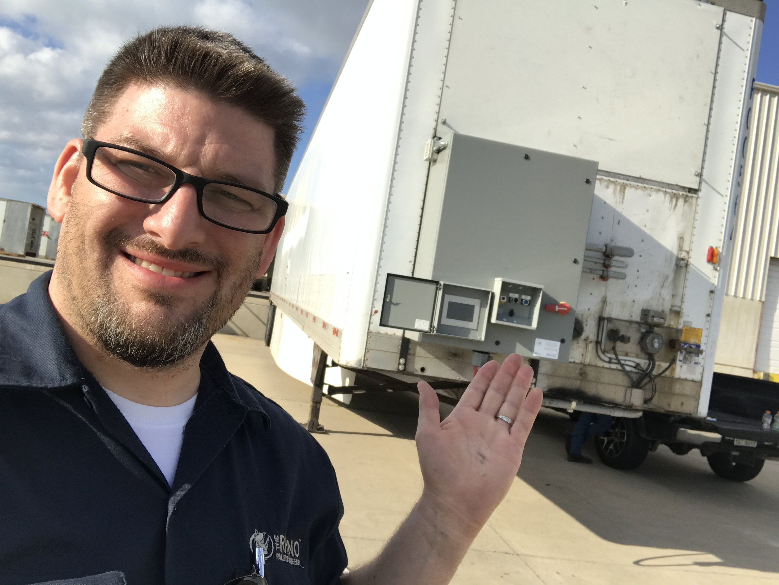 Brian Williams Ph,D. in the development of creating Bio-Decontamination Sterilizer Chambers and expansion of The Mobile DeCon Sterilizing Chamber™. Other system such as this are large enough to hold lumber, pallets, mattress and other material.