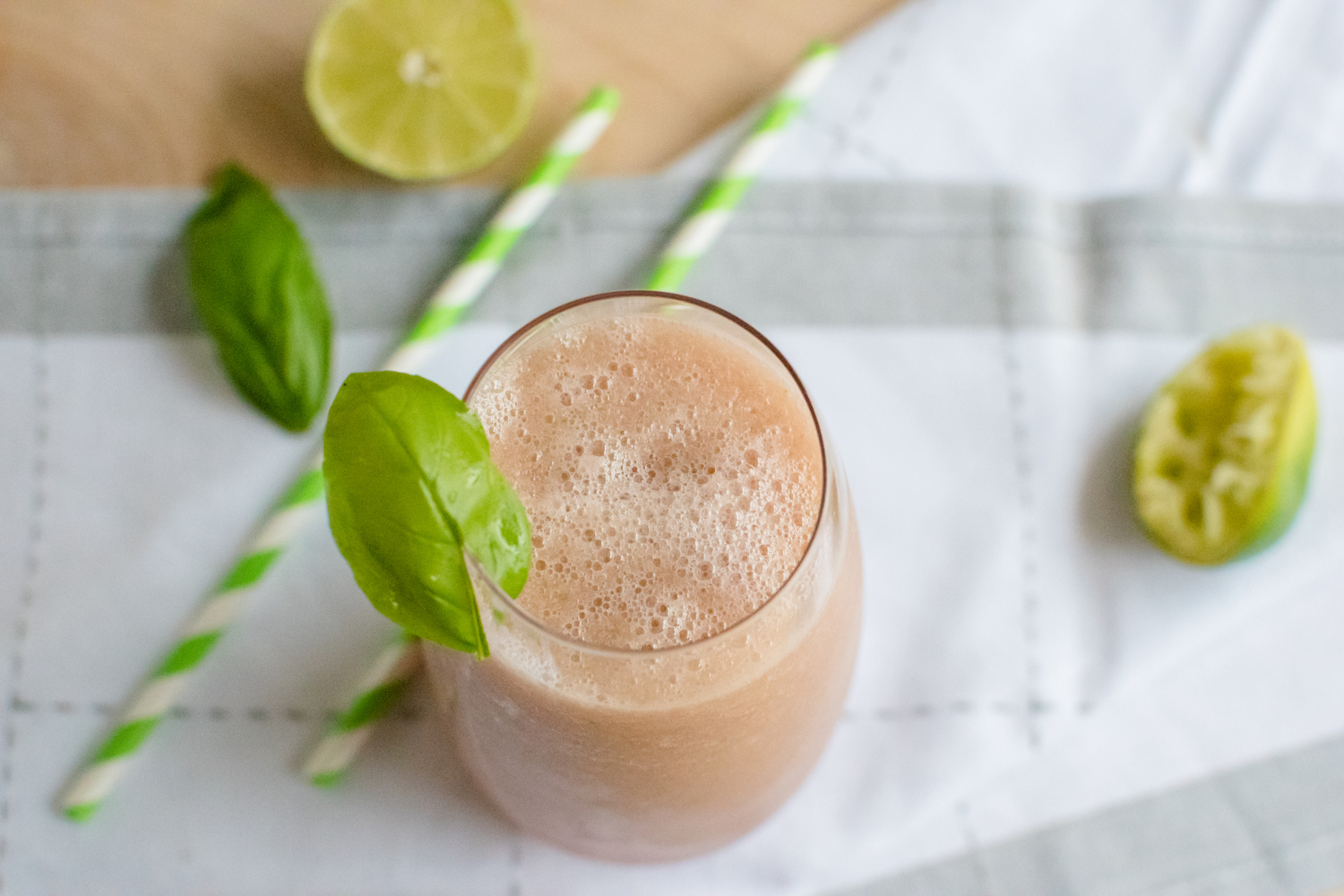 Watermelon Rind Basil Smoothie Vurde