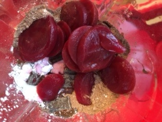 "Beets bring the ""red velvet"" hint of color while adding a bit of subtle sweetness."